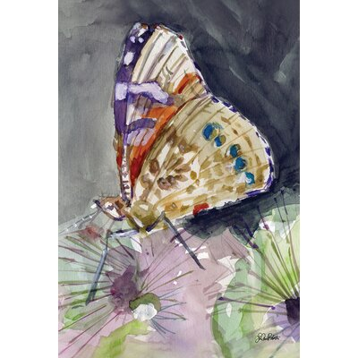 Watercolor Butterfly 2-Sided Garden flag