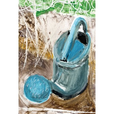 Watercolor Watering Can 2-Sided Garden flag