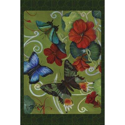 Butterflies and Flowers 2-Sided Garden flag