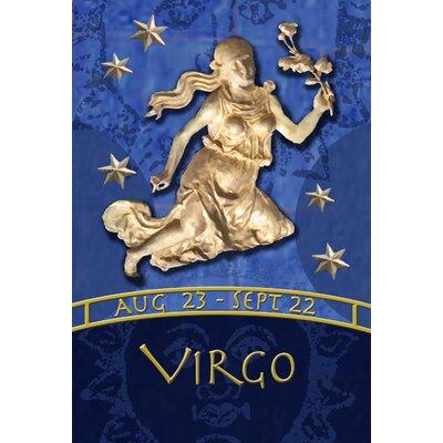 Zodiac-Virgo Garden flag