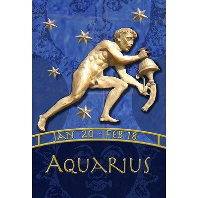 Zodiac-Aquarius Garden flag