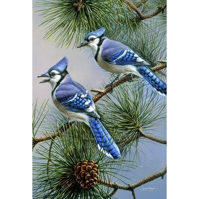 Blue Jay Duet Garden flag