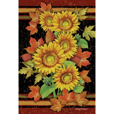 Sunflowers and Leaves Garden flag