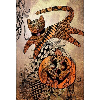 Jumping Cat Tangle 2-Sided Garden flag