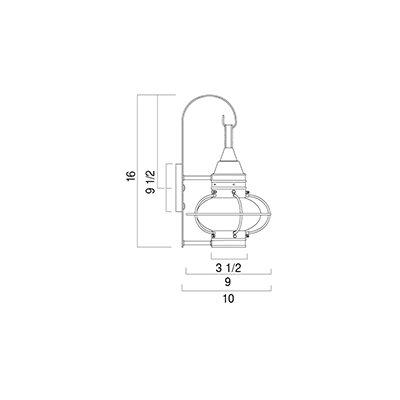 Norwell Lighting Classic Onion 1 Light Outdoor Wall Lantern