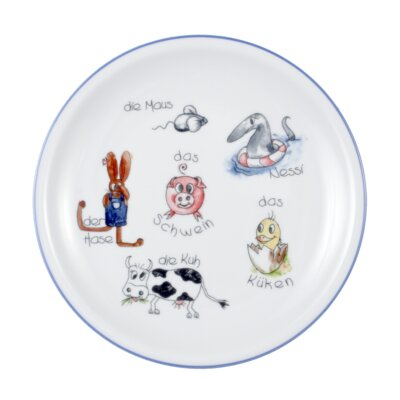 Seltmann Weiden Compact Animal World 20cm Breakfast Plate with Banner
