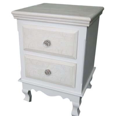 Château Chic 2 Drawer Side Table