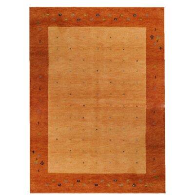 Parwis Handgeknüpfter Teppich Indo Gabbeh Daria in Rost