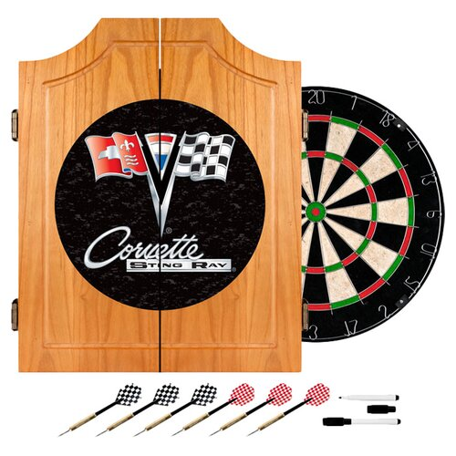 Corvette C2 Wood Dart Cabinet Set