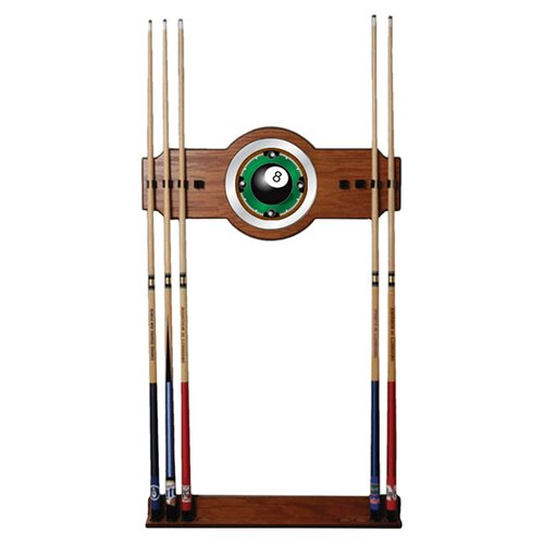 8-Ball Rack'em 2-Piece Wood and Mirror Wall Cue Rack