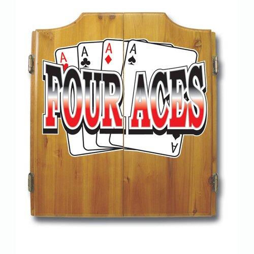 Four Aces Dart Cabinet Set