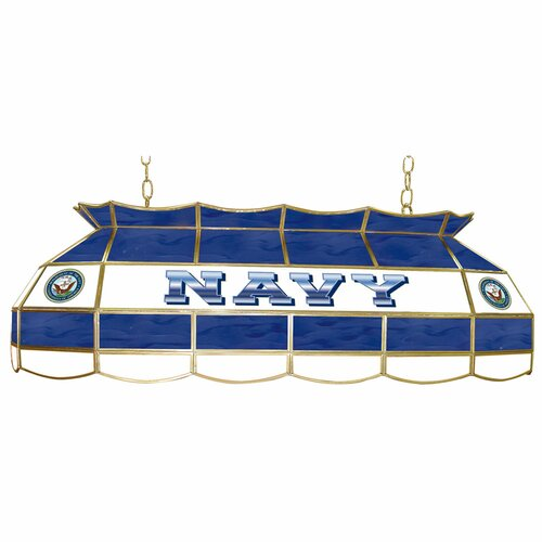 U.S. Navy Stained Glass Pool Table Light