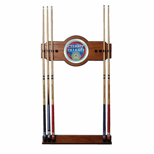 U.S. Coast Guard 2-Piece Wood and Mirror Wall Cue Rack