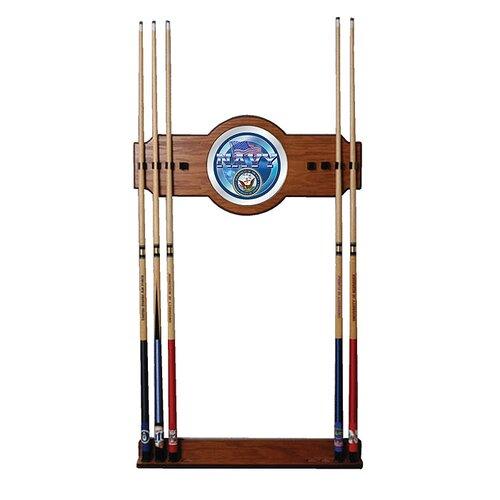 U.S. Navy 2-Piece Wood and Mirror Wall Cue Rack