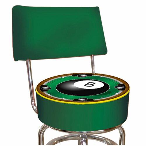 8-Ball Swivel Bar Stool with Cushion