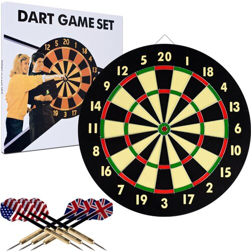 TGT Dart Game Set with 6 Darts and Board