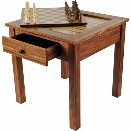 Chess & Games Wood 3 in 1 Multi Game Table