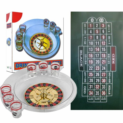 The Spins Roulette Drinking Game and Layout