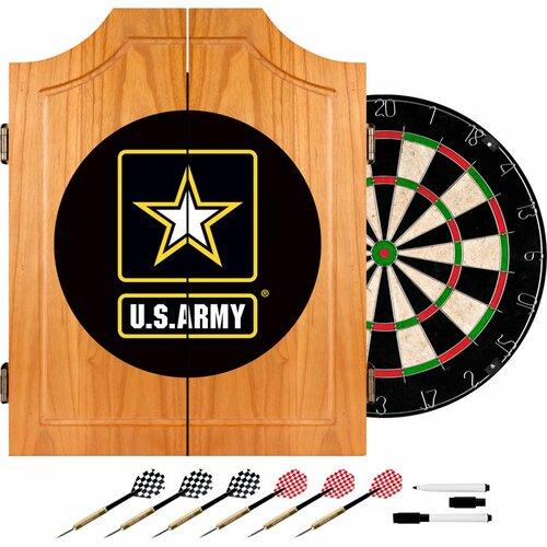 U.S. Army Wood Dart Cabinet Set