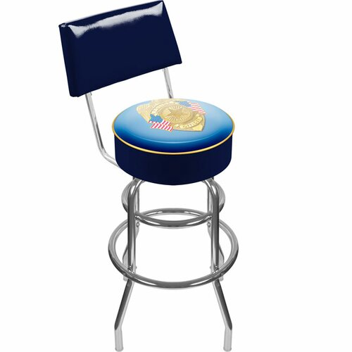 Police Officer Swivel Bar Stool with Cushion