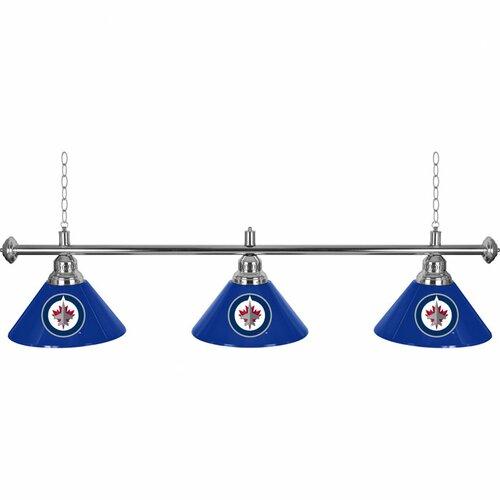 NHL Winnipeg Jets 3 Light Billiard Lamp