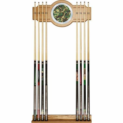Hunt Camo Billiard Cue Rack with Mirror