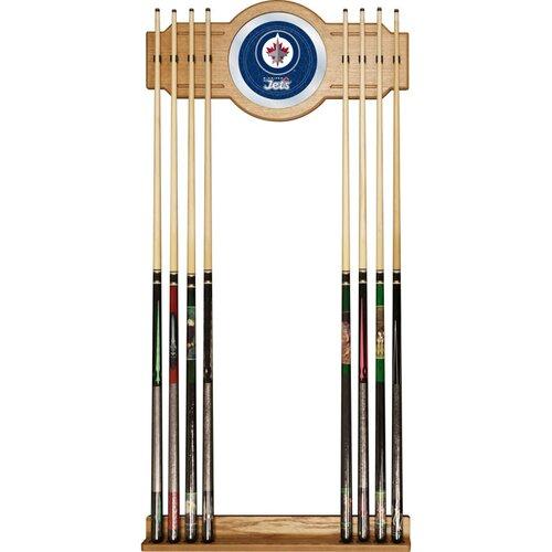 NHL Winnipeg Jets 2 piece Wood and Mirror Wall Cue Rack