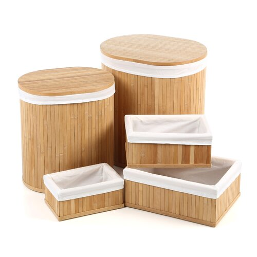 Hamper and Basket (5 Piece Set)