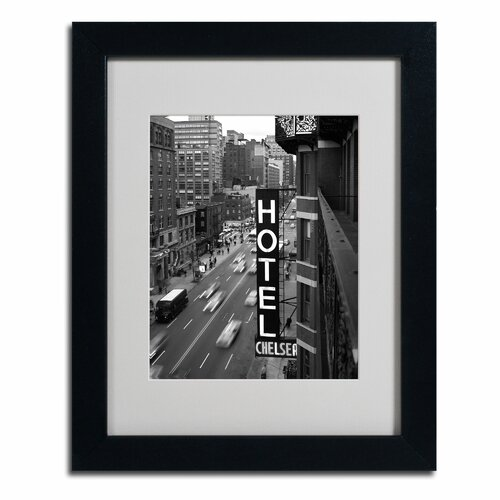 'Chelsea Black and White' Matted Framed Art by Chris Blissby