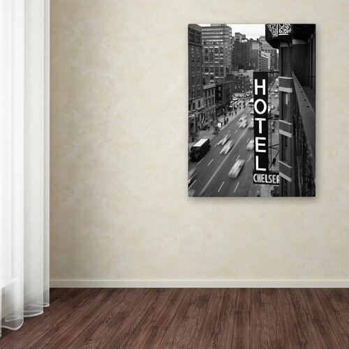 'Chelsea Black and White' Canvas Art by Chris Blissby