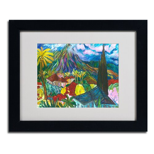 'House By the Mountain' Matted Framed Art