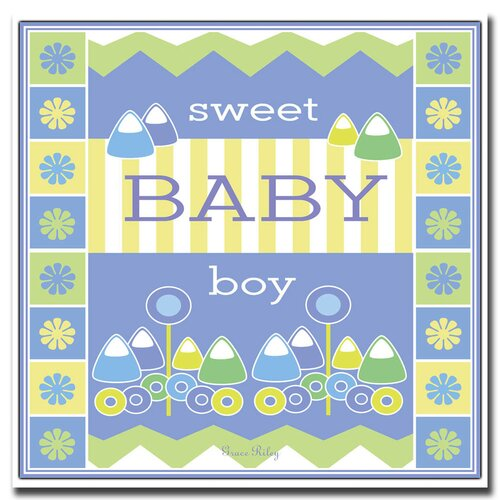 'Sweet Baby Boy' Canvas Art