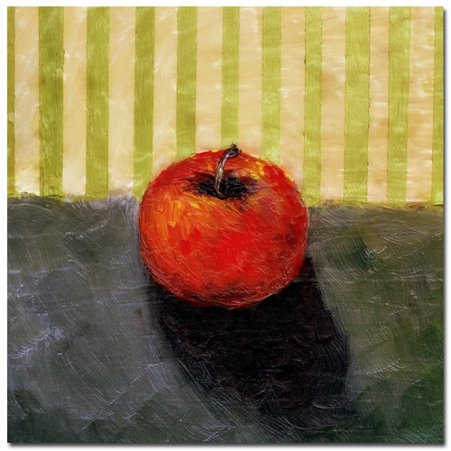 'Red Apple Still Life' by Michelle Calkins Painting Print on Canvas