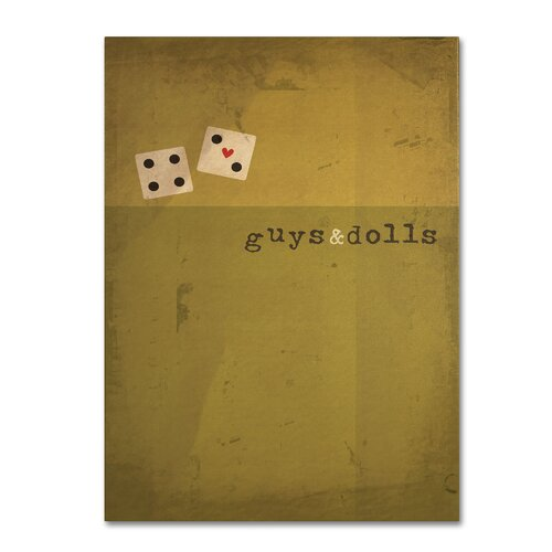 'Guys and Dolls' by Megan Romo Graphic Art on Canvas