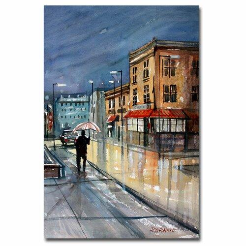 'Night Lights, Green Bay' by Ryan Radke Painting Print on Canvas