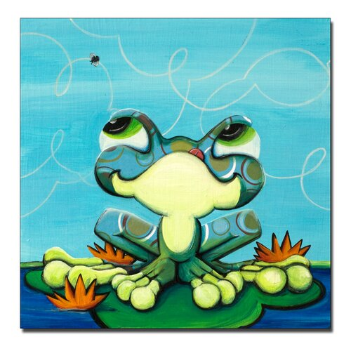 'Frog's Lunch' Canvas Art