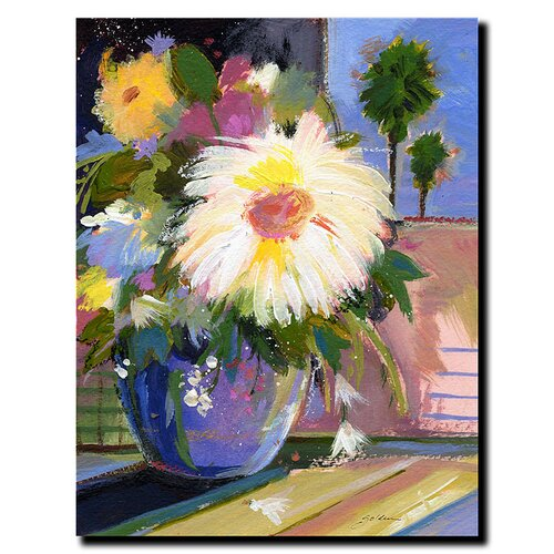 'White Splash' by Sheila Golden Painting Print on Canvas