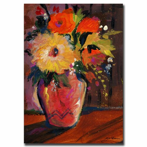 'Orange Splash Bouquet' by Sheila Golden Painting Print on Canvas