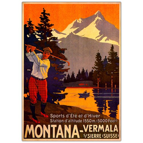 'Montana' Vintage Advertisement on Canvas