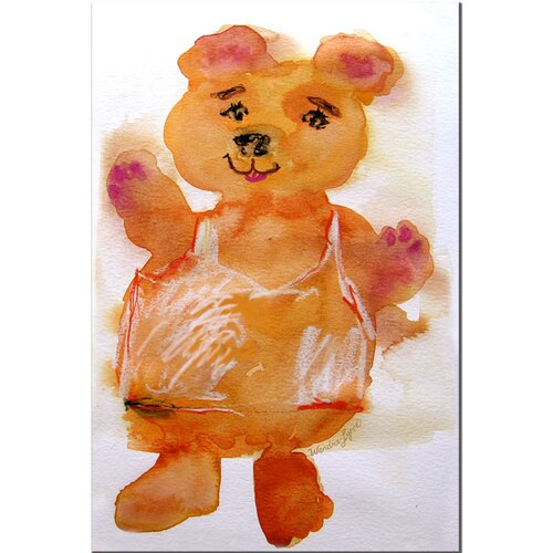 'Softy Bear' by Wendra Painting Print on Canvas