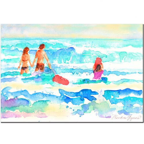 'Splash' by Wendra Painting Print on Canvas