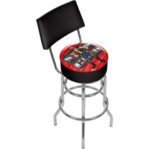 WWE Swivel Bar Stool with Cushion