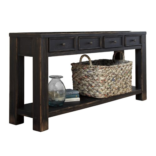Signature Design By Ashley Baltwood 4 Drawer Console Table Reviews