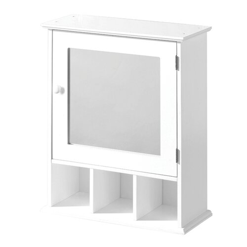 premier housewares bathroom cabinet in white with mirror