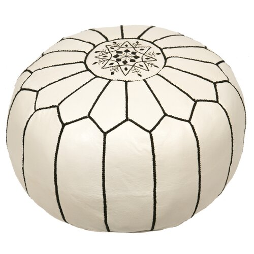 Kylie Leather Pouf