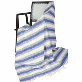 Ikat Zig Zag Throw in Blue