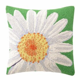 White Daisy Pillow