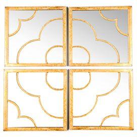 4 Piece Fleur Wall Mirror Set