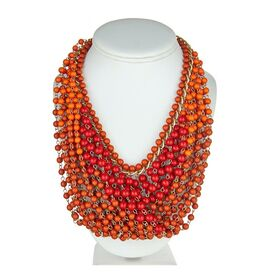 Rachelle Necklace in Orange