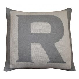 Letter Pillow Cover in Pewter
